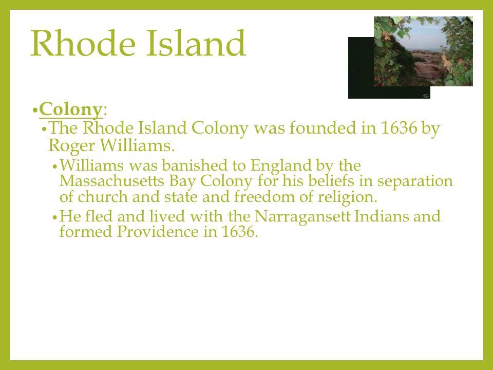 Resources Rhode Island Colony