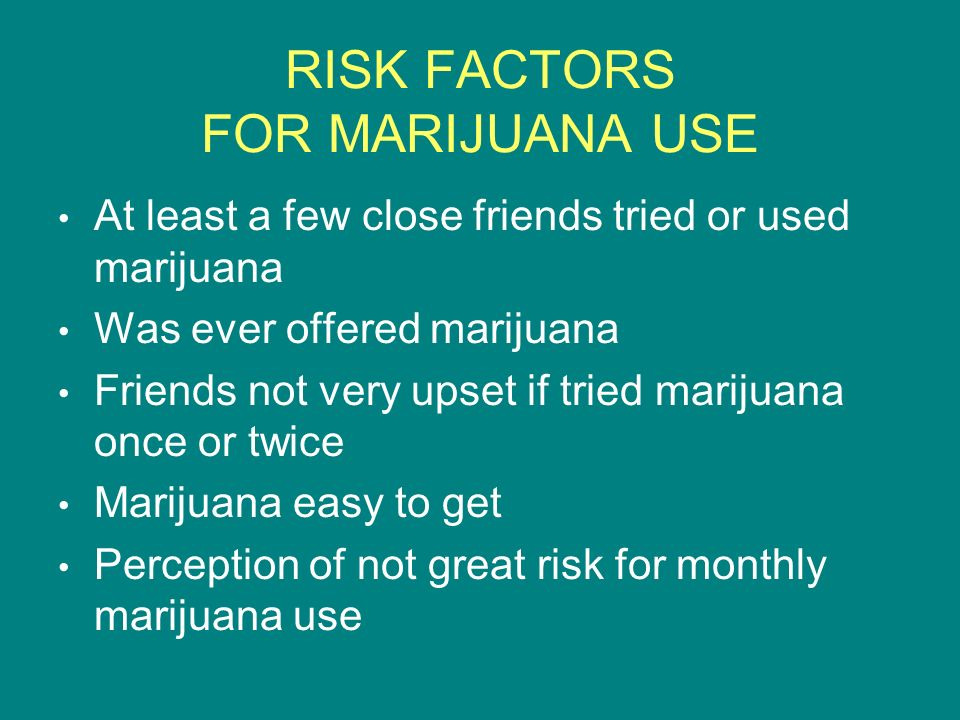 RISK FACTORS FOR MARIJUANA USE