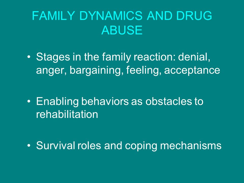 FAMILY DYNAMICS AND DRUG ABUSE