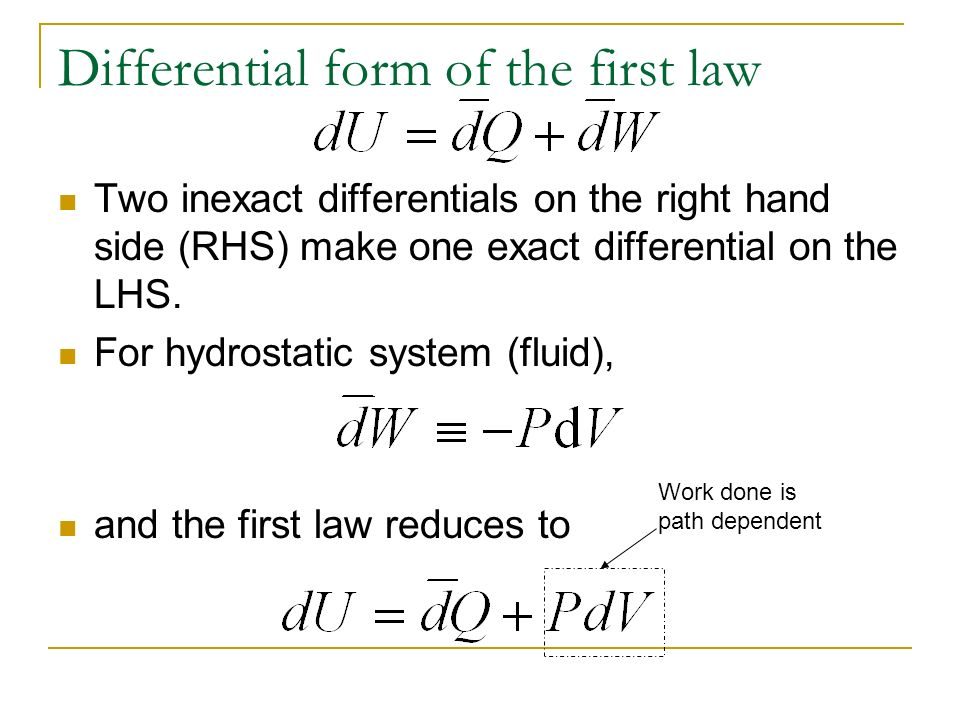 Chapter 4 Heat and the first law of thermodynamics - ppt video ...