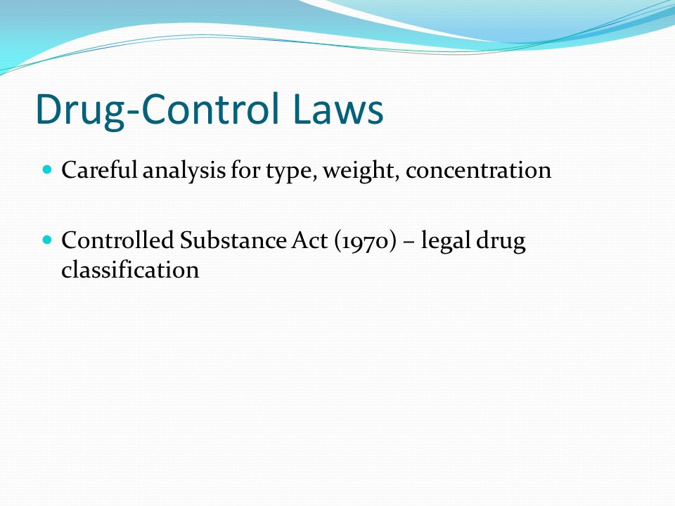 Drugs Overview Dependence And Criminal Activity Types