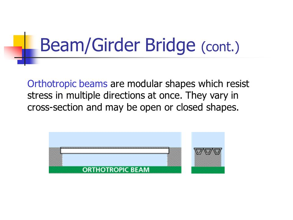 Beam/Girder Bridge (cont.)
