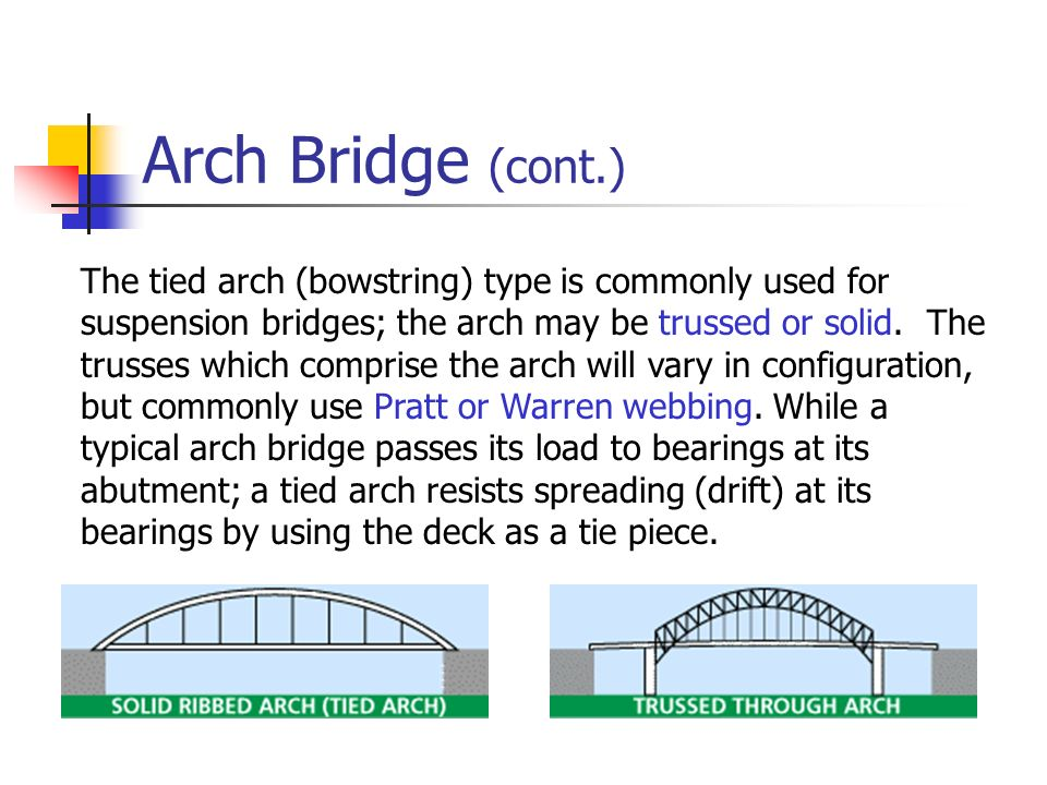 Arch Bridge (cont.)
