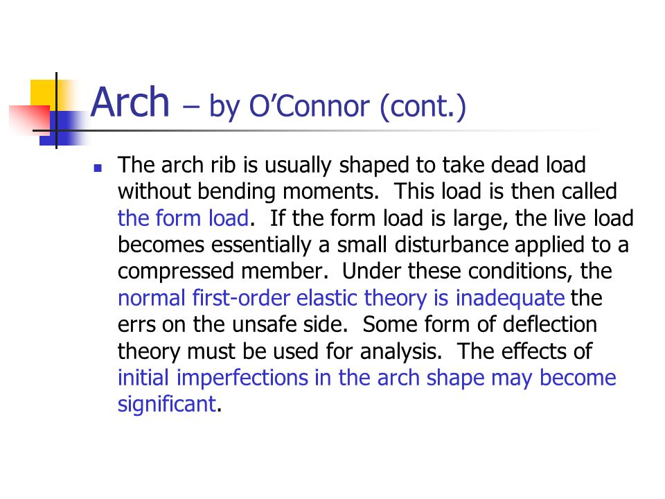 Arch – by O'Connor (cont.)