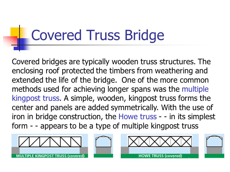 Covered Truss Bridge