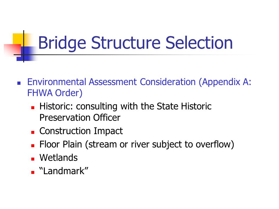 Bridge Structure Selection