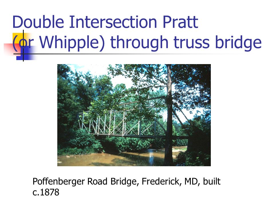 Double Intersection Pratt (or Whipple) through truss bridge