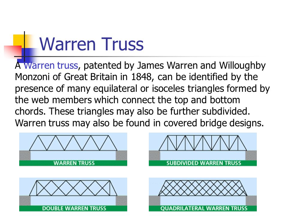 advantages and disadvantages of a warren truss bridge Home issues truss bridge  even in places where it might initially seem to be impossible to place a bridge, truss bridges are  advantages and disadvantages of.
