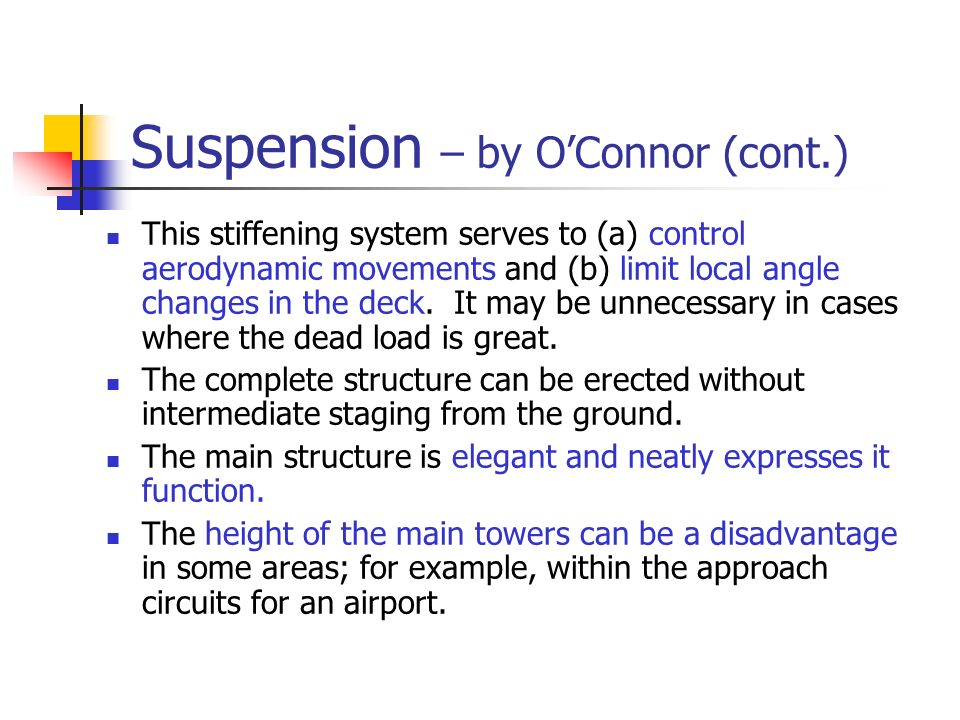 Suspension – by O'Connor (cont.)