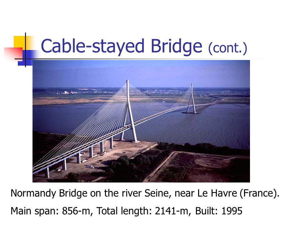 Cable-stayed Bridge (cont.)