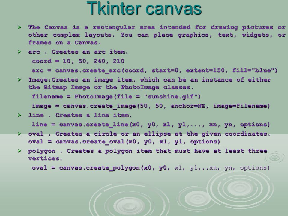 Drawing Lines With Tkinter : Python gui programming ppt video online download