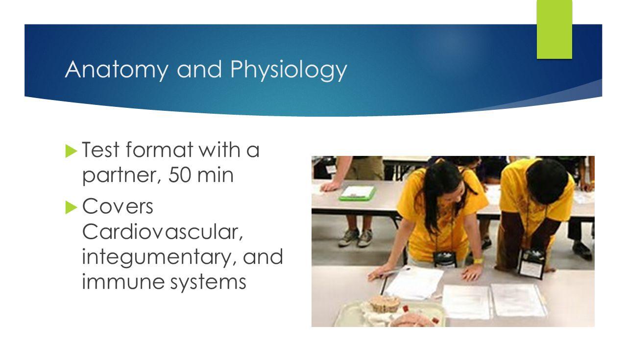 Science olympiad anatomy test