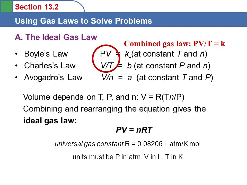 gas law problems