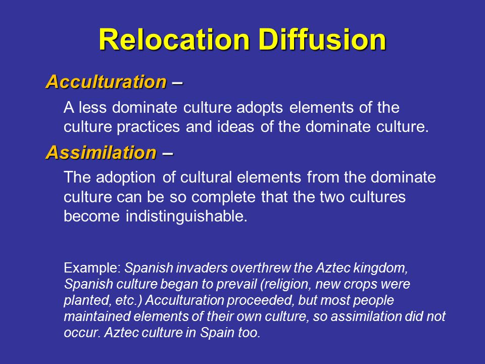 Cultural assimilation 2 essay