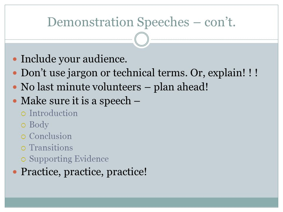 make thesis demonstration speech Demonstration speech introductions and conclusions speech introduction ideas approximately 15% of total time demo introduction ideasdoc.