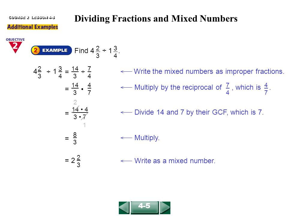 find the reciprocal of a mixed number