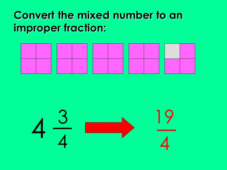 Write a mixed number as a improper fraction - Top bibliography ...