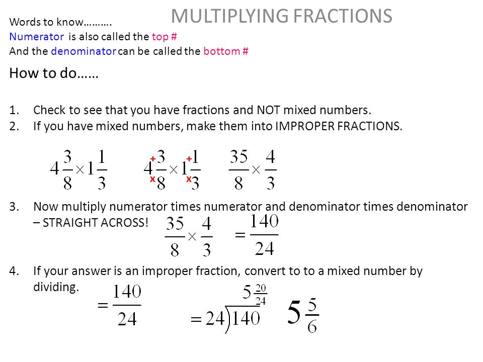 dividing improper fractions and mixed numbers - Google Search ...