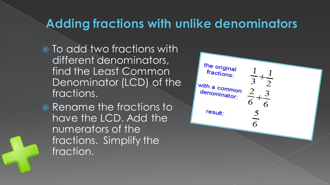 fractions and common denominator Common denominator - learn how to calculate this, and remove frustrations with fractions.