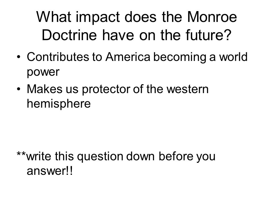 monroe doctrine essays Free essays from bartleby | would benefit from joint declaration against the great alliance, which great briain had proposed, both monroe and adams believed.