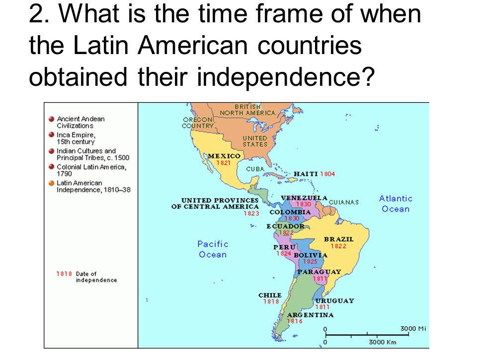 a history of independence in latin american countries The independence of latin america after three centuries of colonial rule, independence came rather suddenly to most of spanish and portuguese america between 1808 and 1826 all of latin america except the spanish colonies of cuba and puerto rico slipped out of the hands of the iberian powers who had ruled the region since the conquest the rapidity and timing of that dramatic change were the result of a combination of long-building tensions in colonial rule and a series of external events.