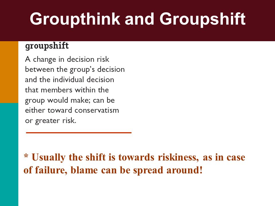 Groupthink and Groupshift