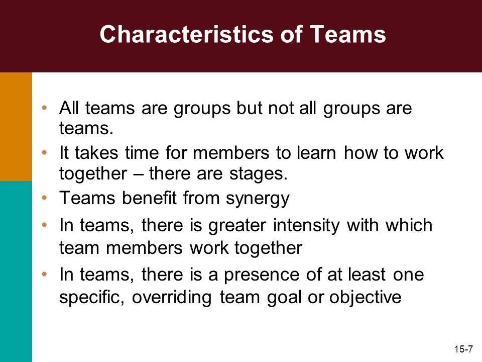 Characteristics of Teams