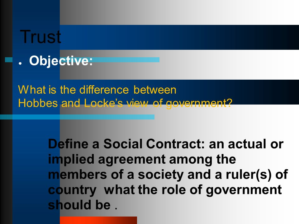 Differences Between Social Contract Theory John Locke And Term Paper