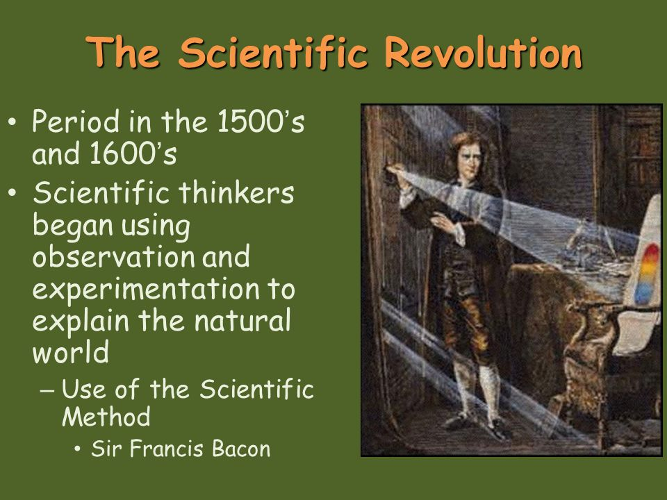 the impact of the scientific revolution upon Galileo's experimental method contrasted with that of bacon in that he believed that the purpose of experimentation should not simply be a means of getting information or of eliminating ignorance, but a means of testing a theory and of testing the success of the very testing method.