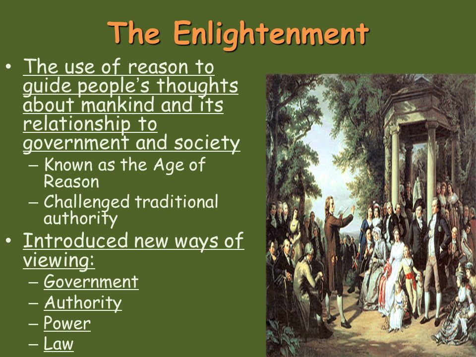 an examination of the age of reason and the enlightenment The enlightenment (also known as the age of enlightenment or the age of reason in french: le siècle des lumières, lit 'the century of lights' and in german.