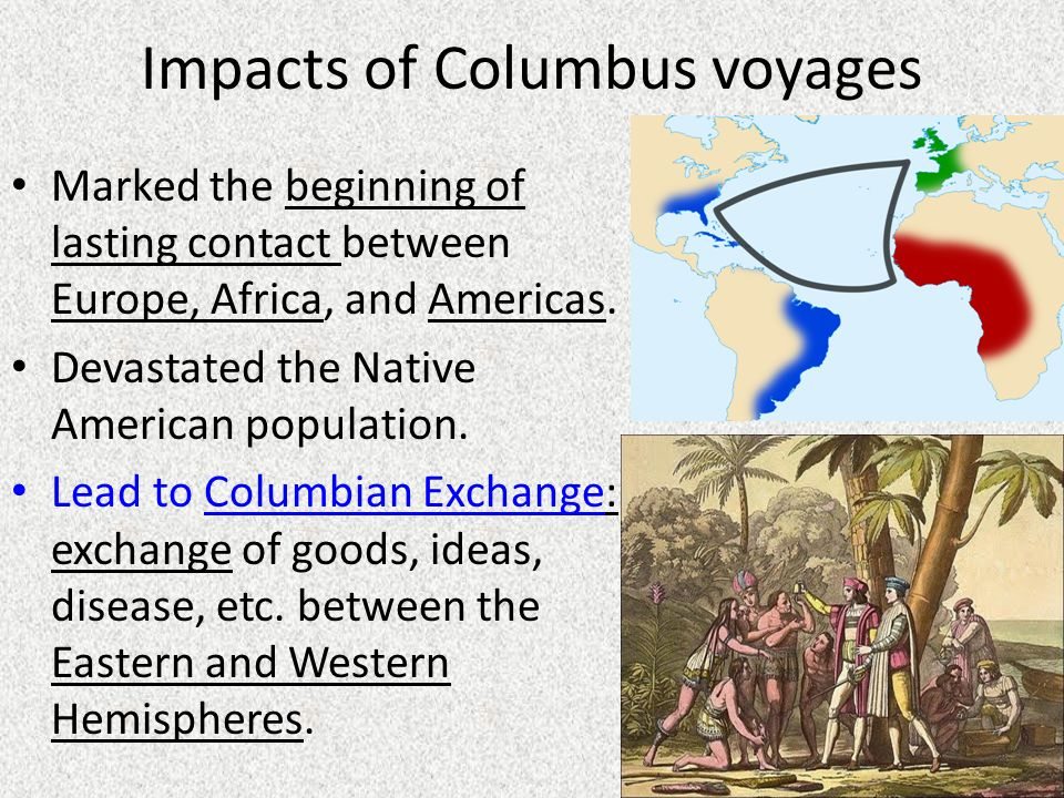 impact of columbus voyages on the European artist's depiction of christopher columbus trading with the taíno on his first voyage to the map illustrating the voyages of christopher columbus.
