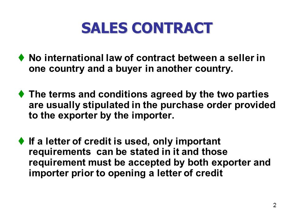 CHAPTER XXX SALES CONTRACTS ppt download – Sales Contracts