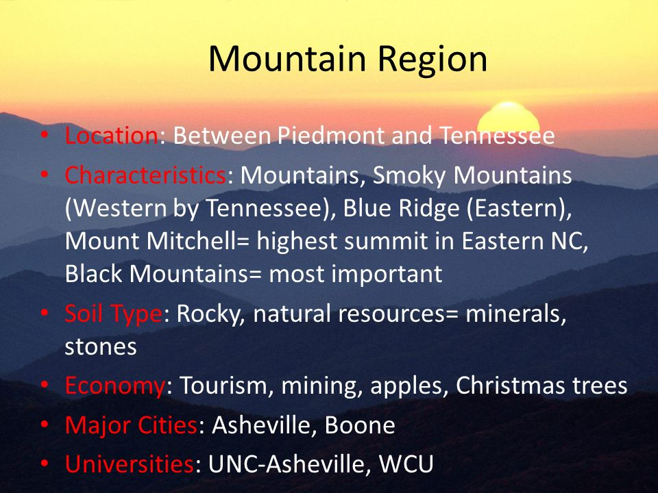 Regions of nc ppt video online download for Natural resources soil information