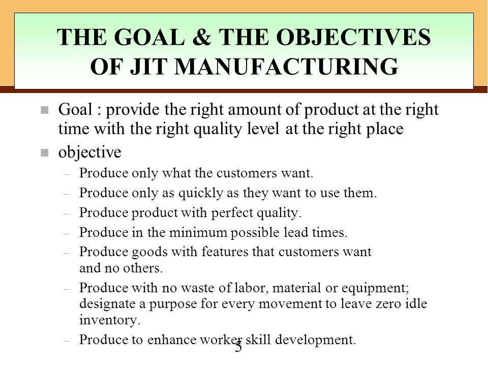Jit Kanban System Of Inventory Management Just In Time