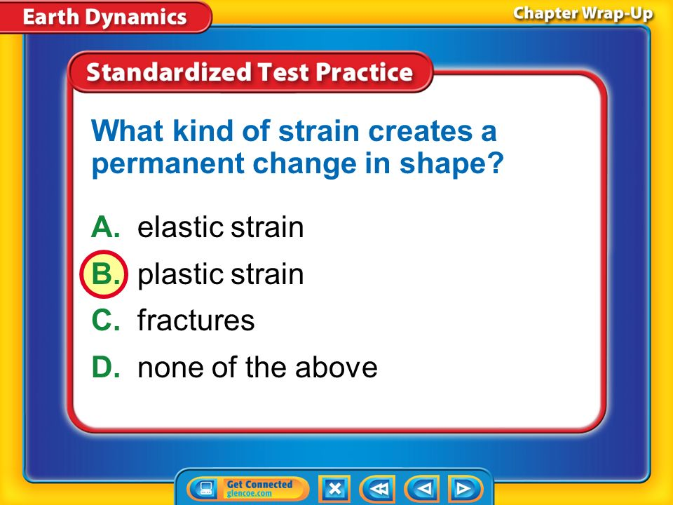 What kind of strain creates a permanent change in shape
