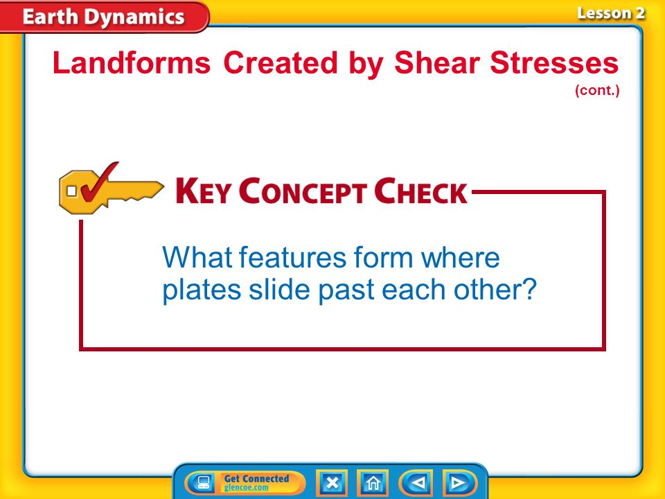 Landforms Created by Shear Stresses (cont.)