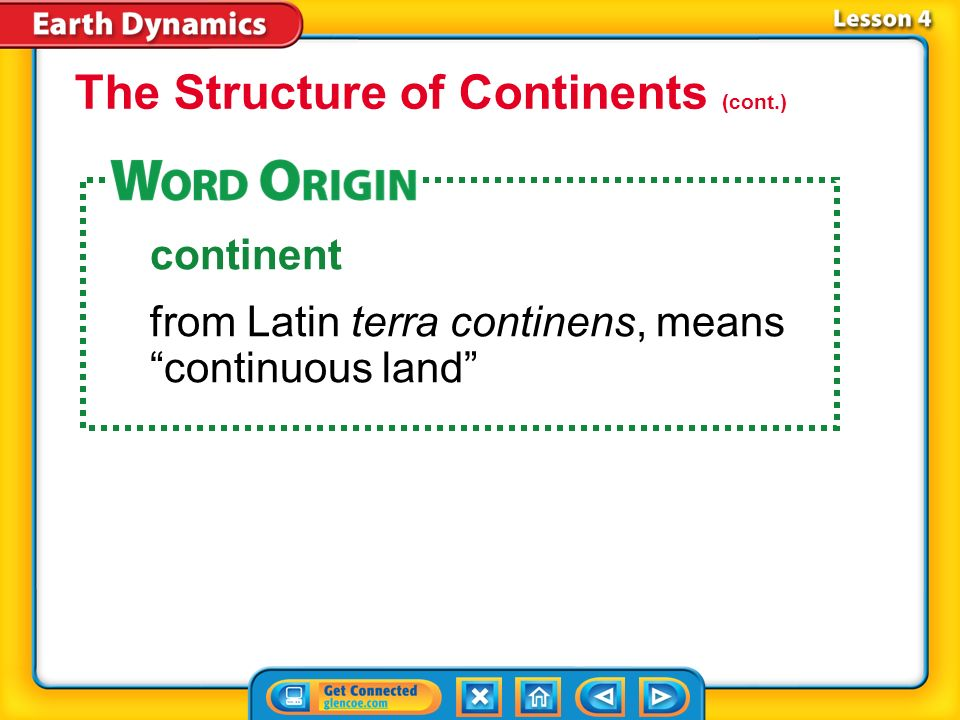 The Structure of Continents (cont.)