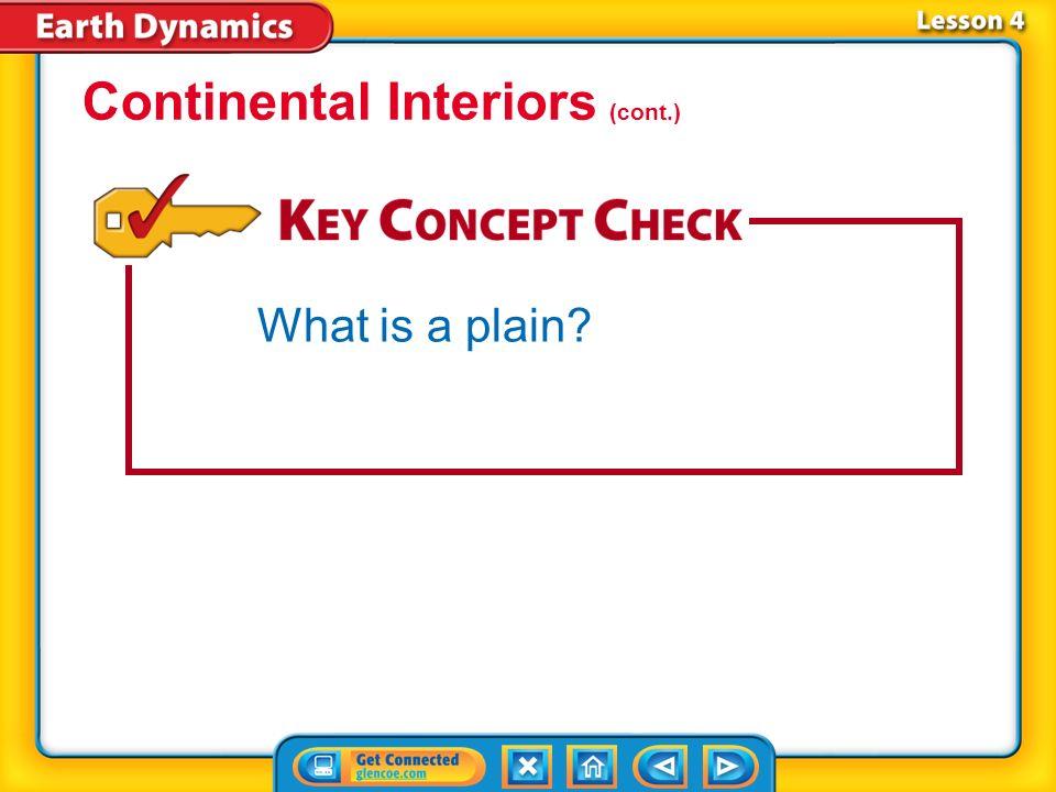 Continental Interiors (cont.)