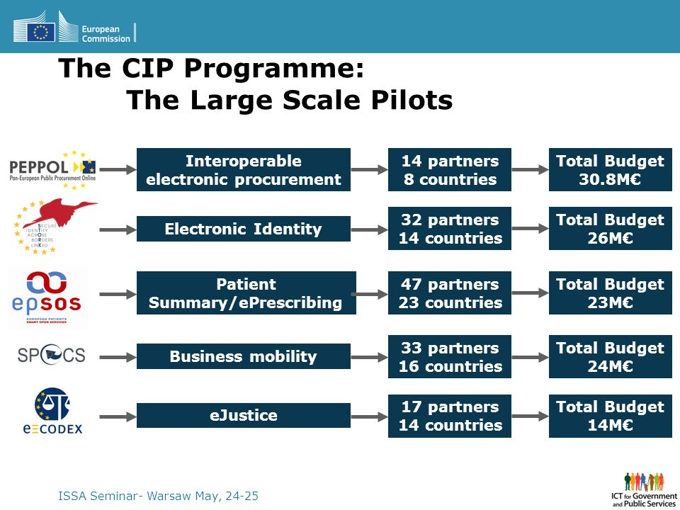 The CIP Programme: The Large Scale Pilots