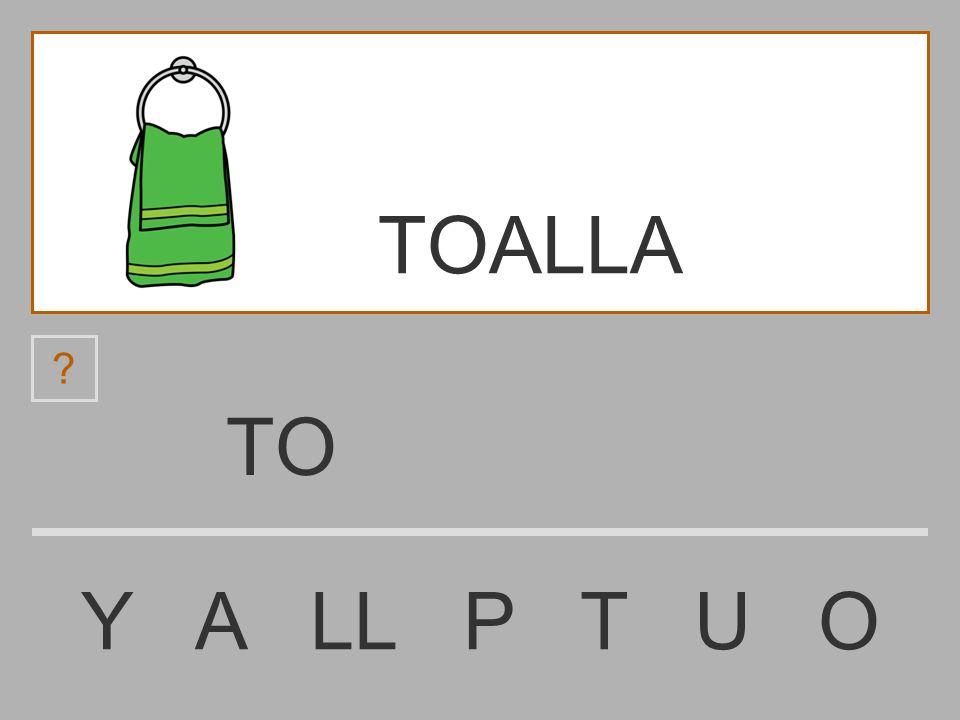 TOALLA TO Y A LL P T U O