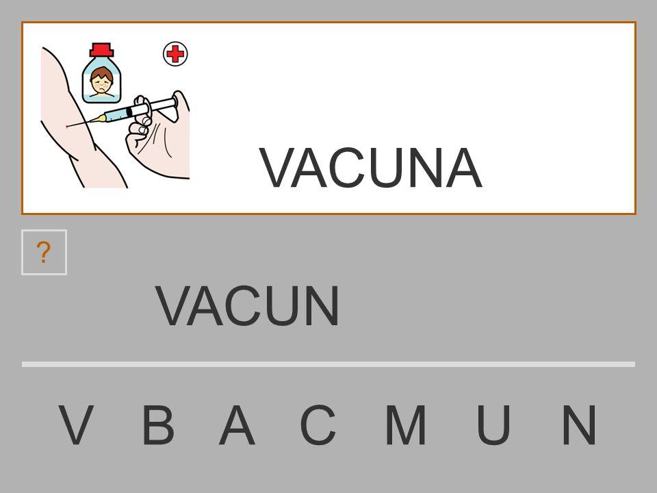 VACUNA VACUN V B A C M U N