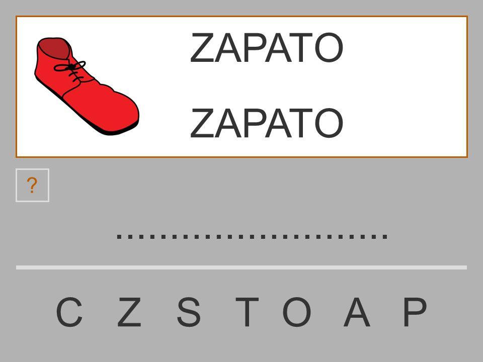 ZAPATO ZAPATO ......................... C Z S T O A P