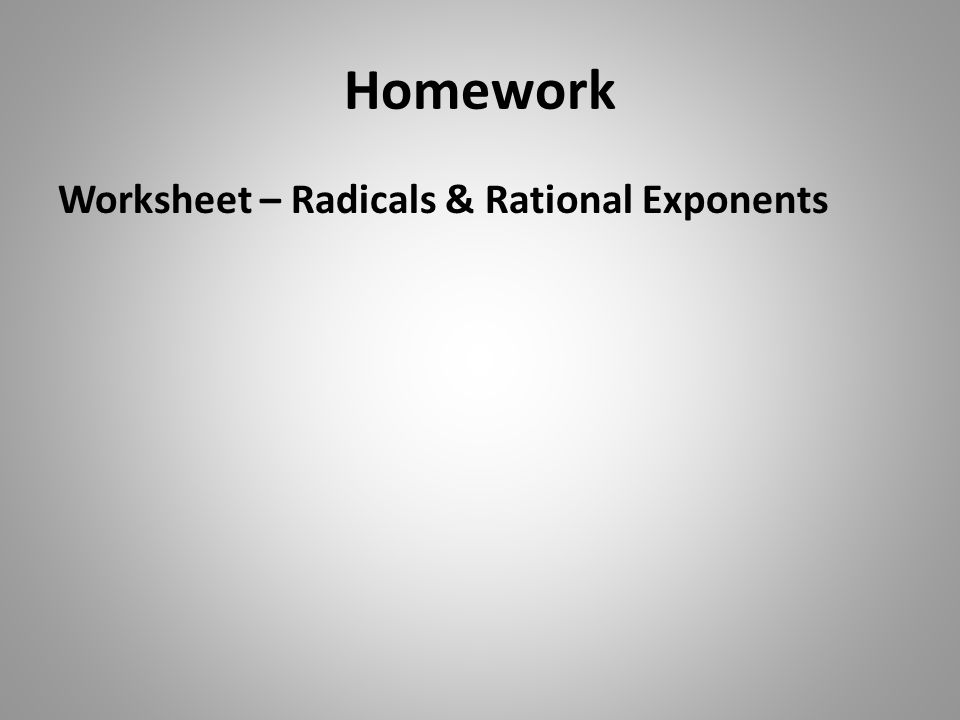 RATIONAL EXPONENTS Algebra One ppt video online download – Exponents and Radicals Worksheet