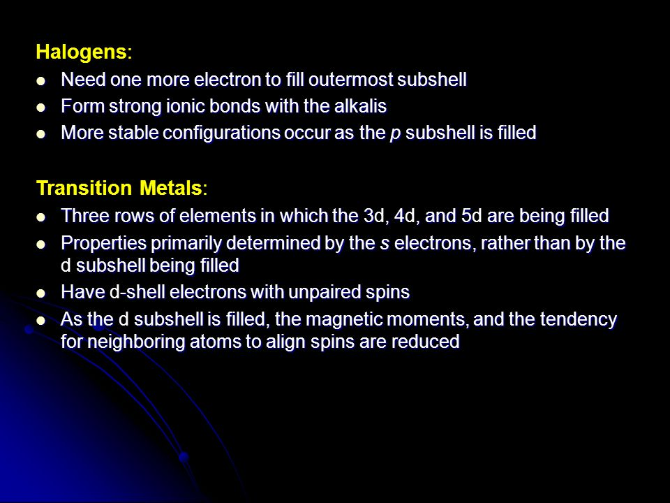 the alkaline earths and the halogens two Introduction: the purpose of this lab was to find the relative solubilities of some salts of the alkaline earths and use that information to find the.
