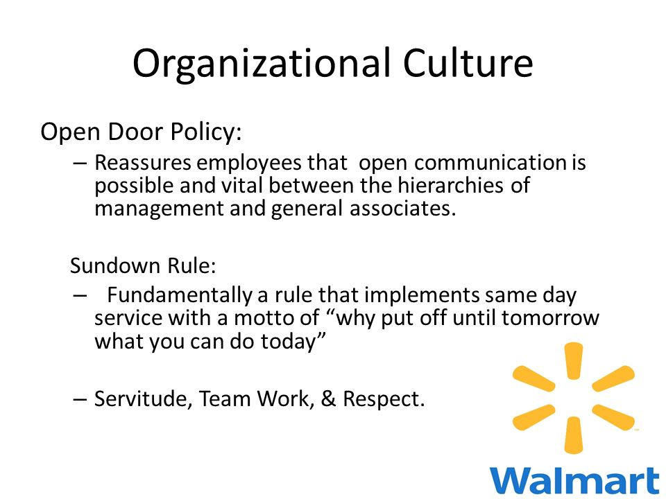 organizational culture at wal mart essay Wal-mart is a company polarized by controversy and success  and thereafter  edited a compilation of wal-mart essays published in  lichtenstein traces the  patriarchal hierarchy embedded in wal-mart culture to its origins in.