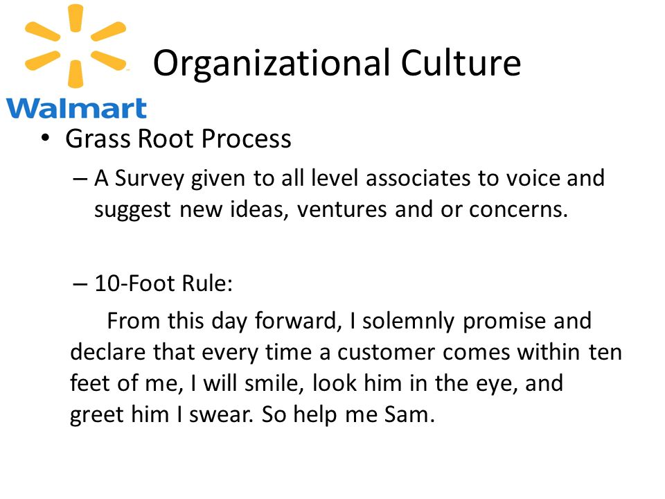 wal mart organizational control culture strategy implementation P 149 southwest airlines and wal mart most likely use which business strategy a from  which of the following is a step in the strategy implementation process.