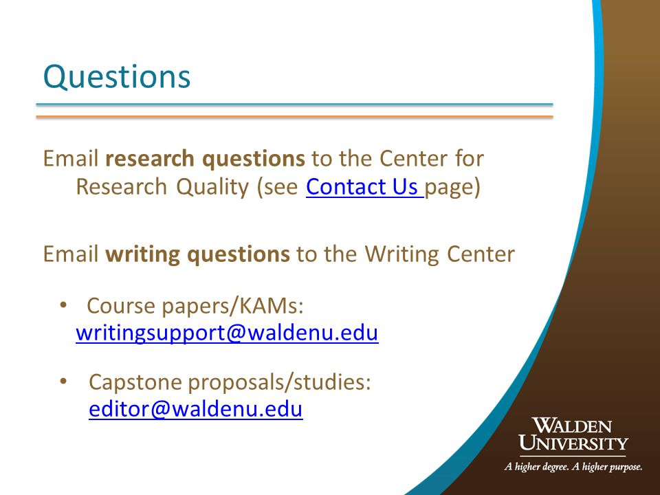 course papers Several walden undergraduate instructors have put together model papers for students in their courses, with advice on formatting and organizing material in written assignments.