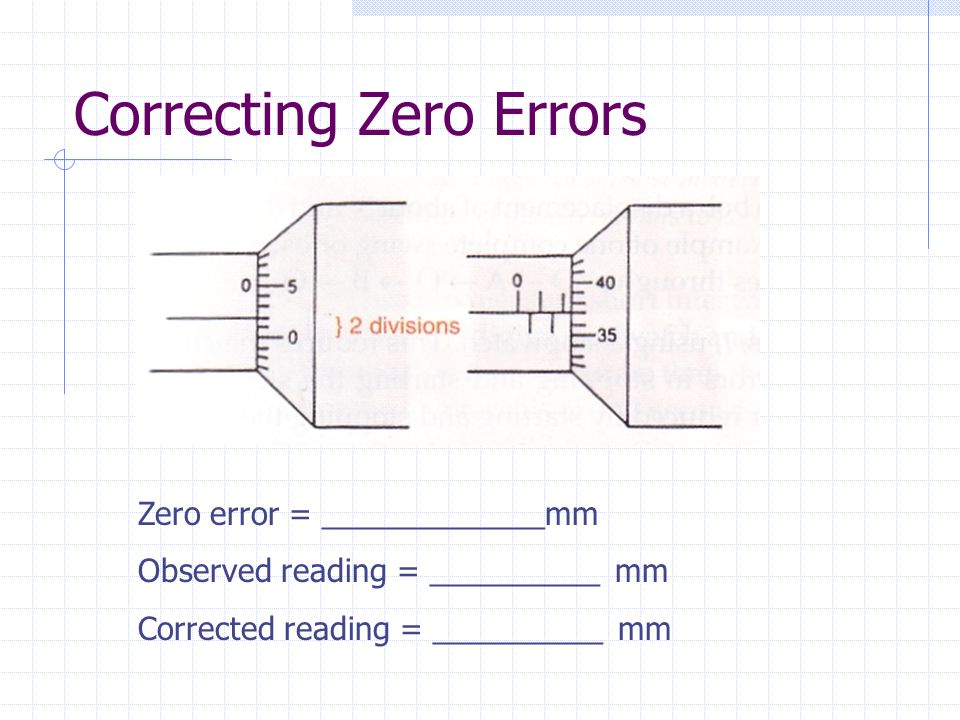 Measurements by mr tan kk ppt video online download correcting zero errors ccuart Image collections