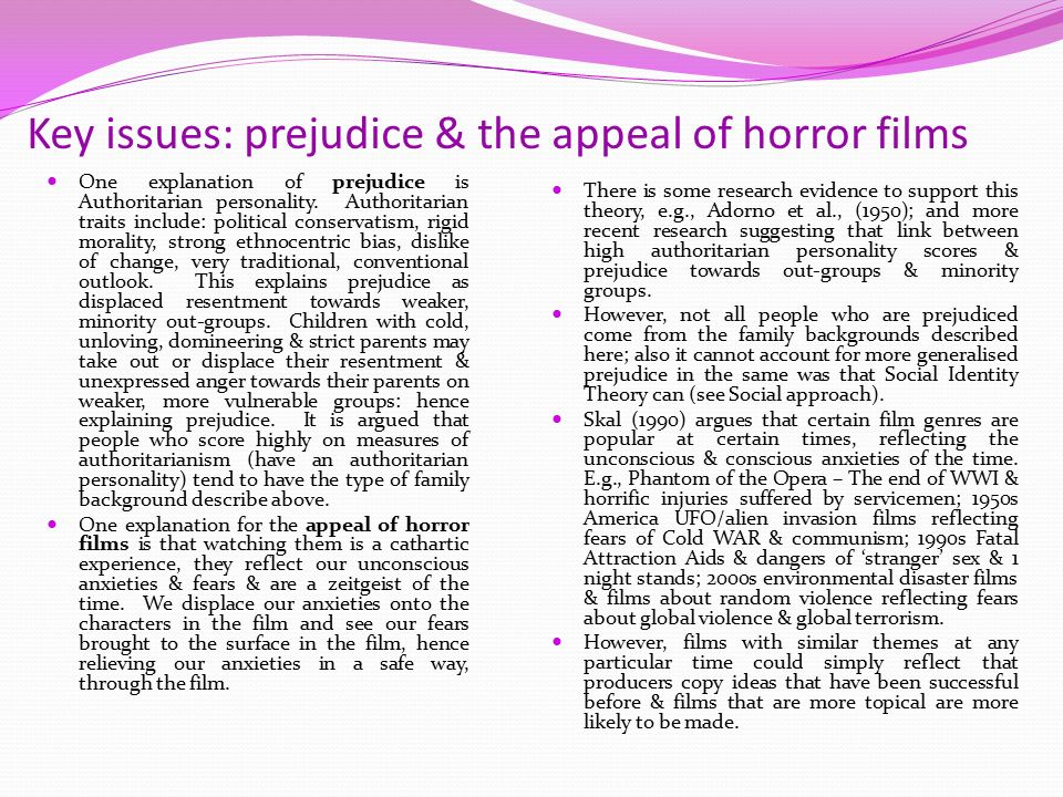 the appealing characteristics of the horror genre In looking at the horror film audience (which is not nearly as homogenous as   fatale/monstrous feminine, strong erotic elements or attractive hero-monsters,.