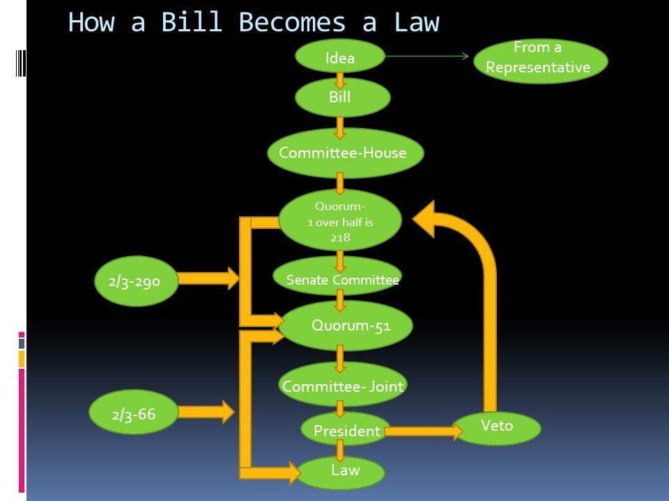 a description of a bill which becomes a law as a senator or a representative Part 4: sponsors and co-sponsors  as part of his job as sponsor of a bill, this representative or senator  you will see just under the description of the bill.